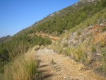 A route on one of the moderate walks in the lower foothills of the Sierras Tejeda, Almijara y Alhama Natural Park.